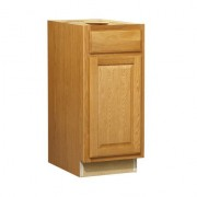 15 in Huron Oak Standard 1-DoorDrawer Base Cabinet