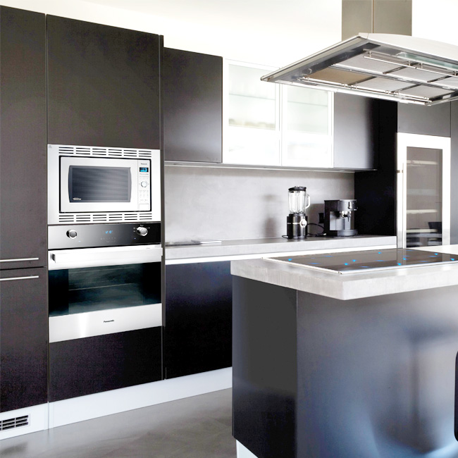 Black Kitchen Cabinet Doors: Slab Kitchen Cabinet Door In Solid Dark Silver