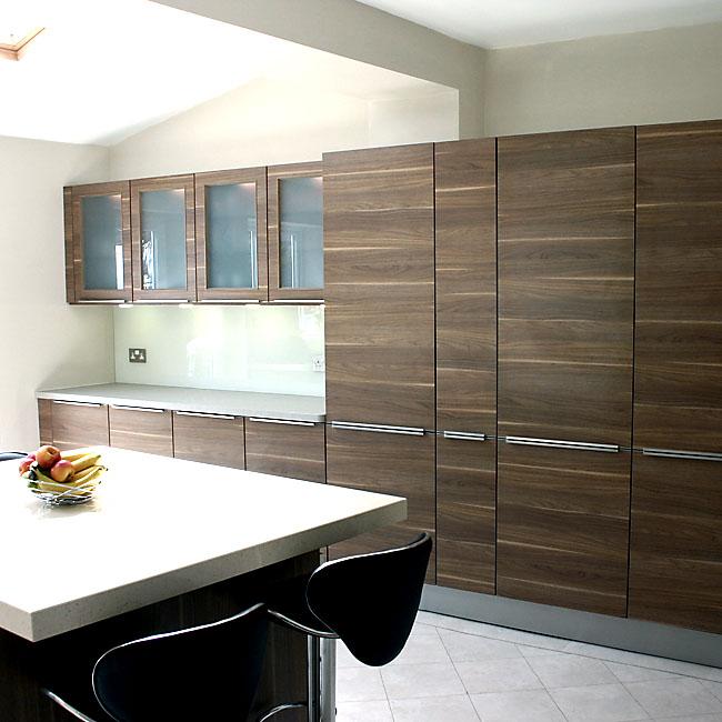 Slab Kitchen Cabinet Door In Wooden Light Brown Akc