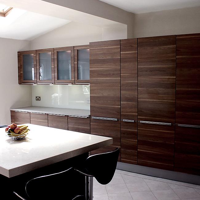 Custom Kitchen Cabinet Doors Online: Slab Kitchen Cabinet Door In Wooden Medium Brown